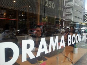 Write Out Front at the Drama Book Shop